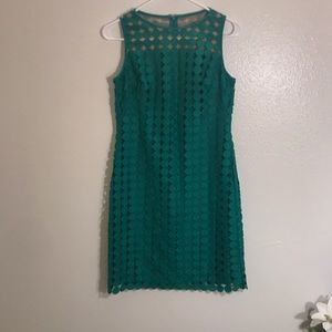 Green Polka Dot Cocktail Dress